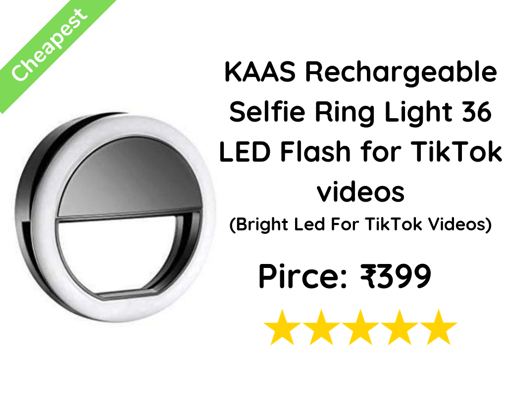 KAAS Rechargeable Selfie Ring Light 36 LED Flash for TikTok videos